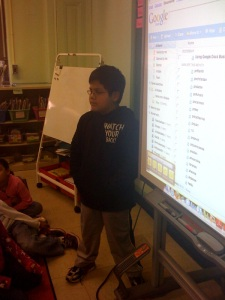 Using our new SmartBoard!