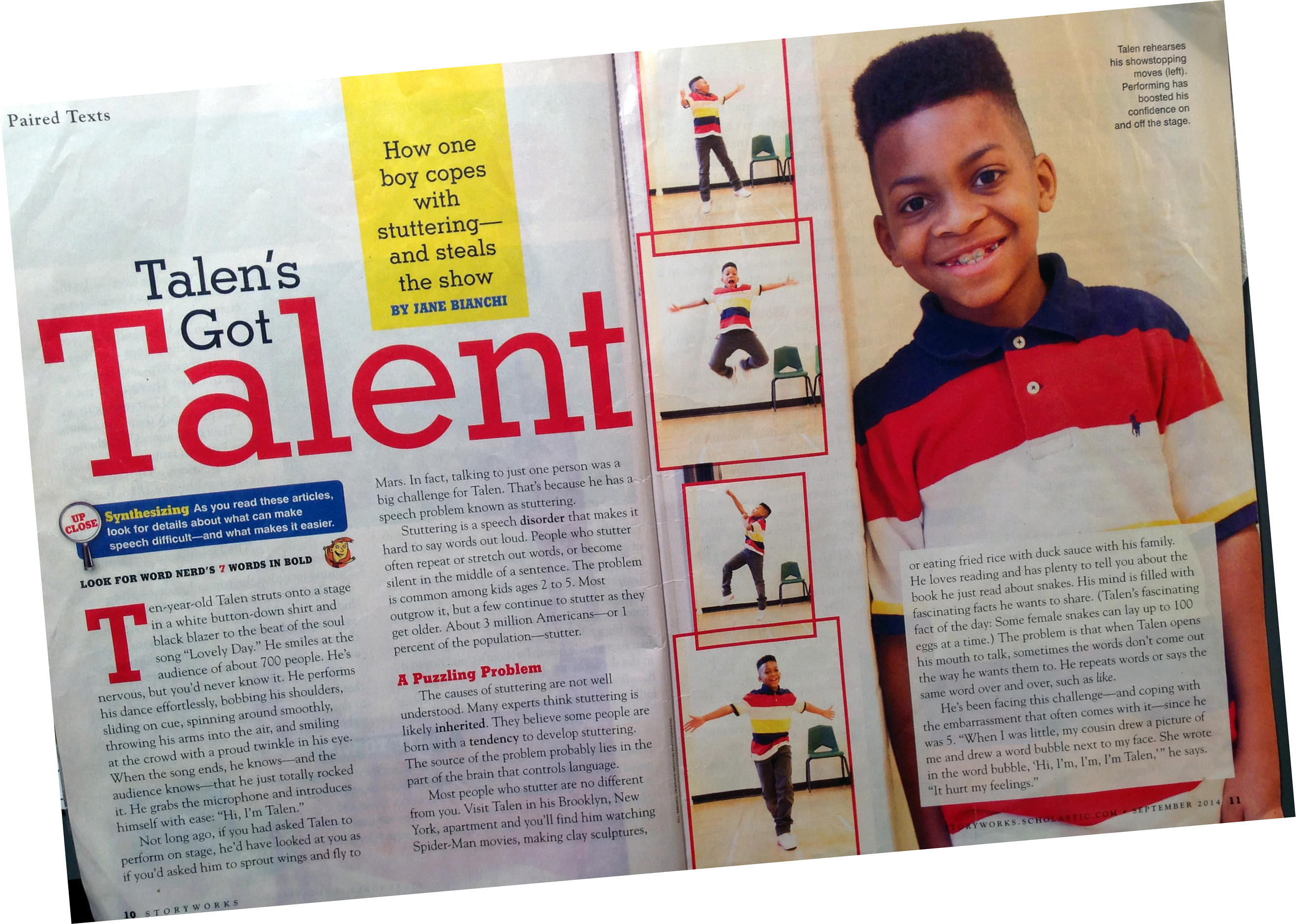 Check Out The Scholastic Storyworks Magazine Feature On Talen