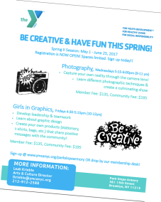 YMCA Girls inGraphics Spring 2